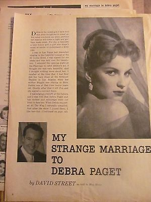 Debra Paget, Three Page Vintage Clipping