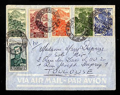 14554-FRENCH CONGO-AIRMAIL COVER  BRAZZAVILLE to TOULOSE(france)1952.French.AEF.