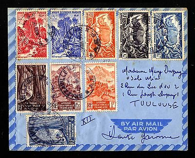 14553-FRENCH CONGO-AIRMAIL COVER  BRAZZAVILLE to TOULOSE(france)French.1951.AEF
