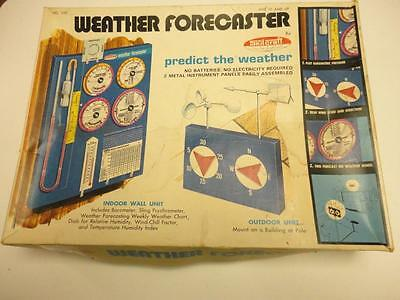 Vintage WEATHER FORECASTER Science Toy by SkilCraft 1972 PARTS SET