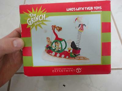 Department 56 Grinch Village Collection WHO'S WITH THEIR TOYS Accessory NEW (b)