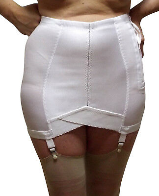 Big Open Girdle 6X 7X 8X 9X Vintage-New Tight Fit Zip-Close 4 Garters Pinup SEXY