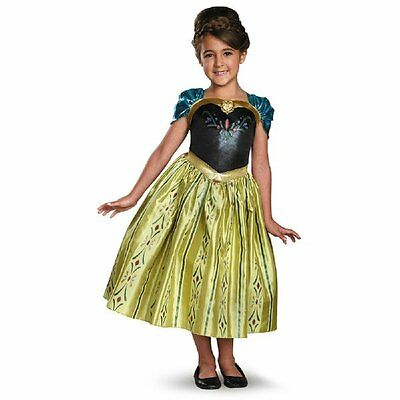 NEW Disney Frozen ANNA CORONATION DRESS-UP COSTUME Dress 4-6 7-8