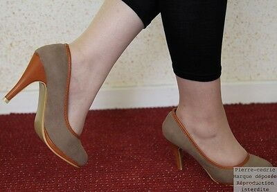 Court shoes Suede Synthetic Sole inside Leather Heel et Finish Leatherette