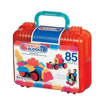 Bristle Blocks 85pc Big Value Set with Family & Dog Figurines in Carry Case