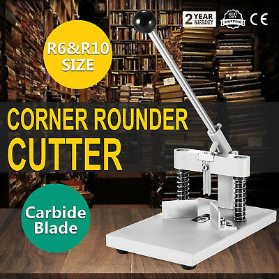 Manual Paper Corner Rounder Cutter R6 & R10 Commercial 2 Dies PVC Paper UPDATED