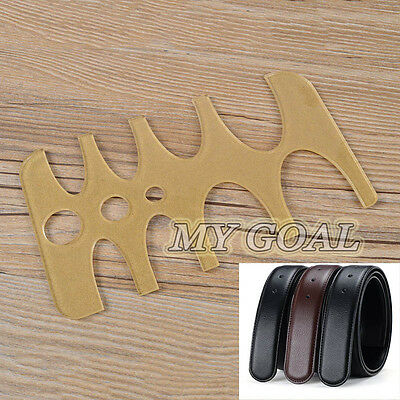 Acrylic Belt Tail Round Hole End Stencil Leather Strap Craft Template Board Tool