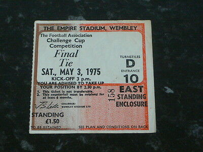 Ticket 1975 FA Cup Final - WEST HAM UNITED v. FULHAM