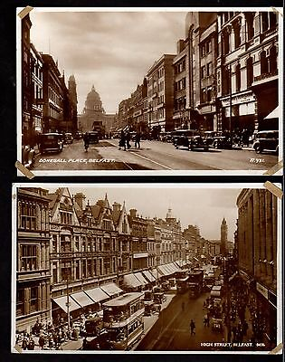 Postcards (x2) ~ BELFAST Northern Ireland ANTRIM ~ Early to Middle 1900s