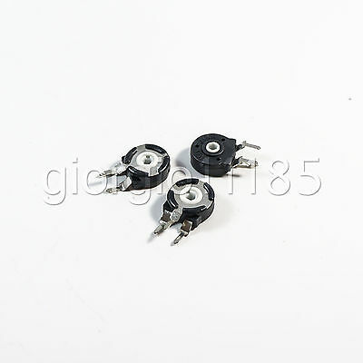 US Stock 10pcs Spain Potentiometer Hexagonal Hole Vertical Type 100K Ohm PT-10