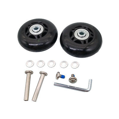 US Stock 2 Set OD 60mm Luggage Suitcase Replacement Wheels Axles Repair Wrench