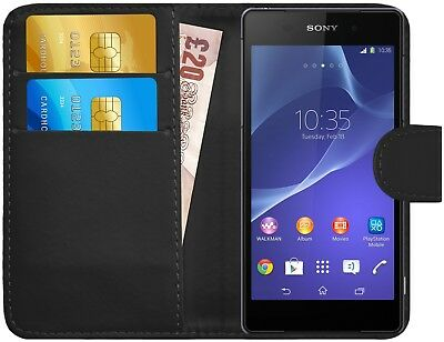 G-Shield® Luxury Leather Magnetic Flip Wallet Slim Case Cover For Sony Xperia Z2