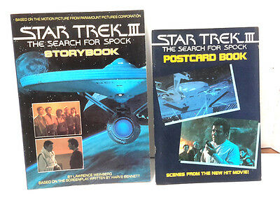 1984 Star Trek III:Search for Spock Storybook & Postcard Book- UNUSED!