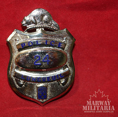 OBSOLETE - LONGUEUIL POLICE Quebec Number 24, Shield Badge (inv 8767)