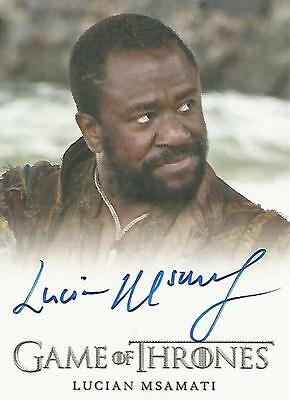"Game of Thrones Season 5 - Lucian Msamati ""Salladhor Saan"" Autograph Card"