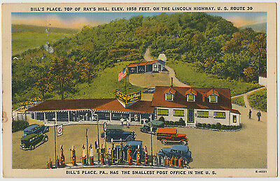 Bill's Place atop Ray's Hill, Lincoln Highway 30, Pennsylvania 1940