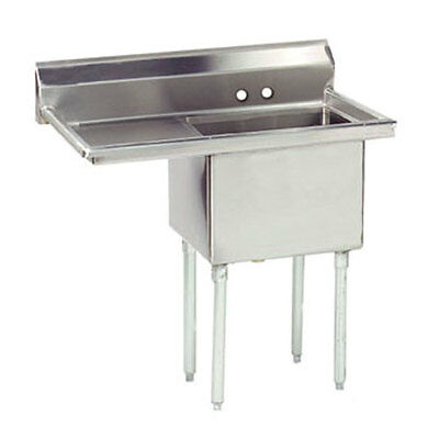 """1 COMPARTMENT SINK STAINLESS STEEL 18 x 24 + 1 24""""LFT DRAINBOARD"""
