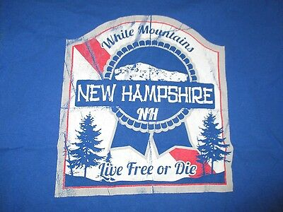 """White Mountains NEW HAMPSHIRE """"Live Free or Die"""" (MED) T-Shirt"""