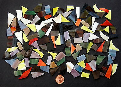 Stained Glass Mosaic glass (Various colours) cut offs...small pieces of glass