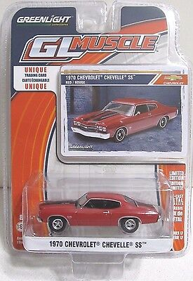 GREENLIGHT GL MUSCLE SERIES 17 1970 CHEVROLET CHEVELLE SS 454 Red