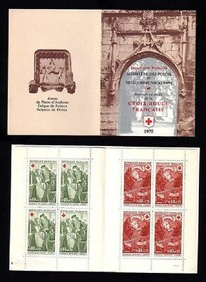 STAMPS - France Carnet CROIX ROUGE 1970 NEUF** LUXE