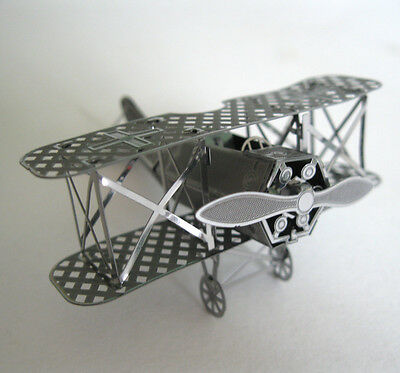 Fokker D-7 World War One Biplane Metal Model Red Barron Office Desktop Decor