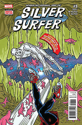 SILVER SURFER #8 (MARVEL 2016 1st Print) Comic. Boarded. Free UK P&P