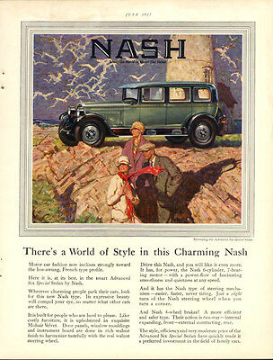 A World of Style in this Charming Nash Advanced Six Special Sedan ad 1927
