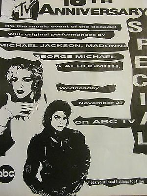 Madonna, MTV Special, Michael Jackson, Full Page Promotional Ad