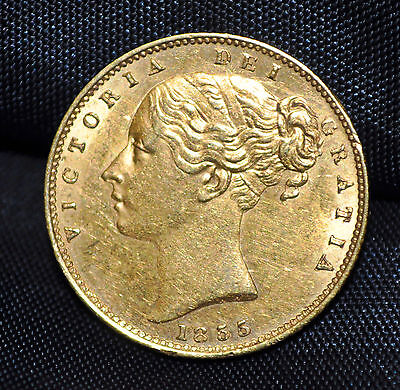 1855 Great Britain Gold Sovereign EF-45