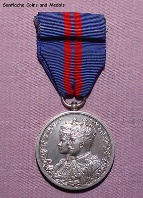 1911 OFFICIAL KING GEORGE V DELHI DURBAR MEDAL IN SILVER - Nice Example