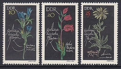 Germany DDR 879-81 MNH 1966 Protected Flowers Full Set