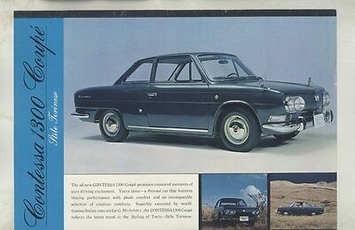 1965 Hino Contessa Michelotti 1300 Coupe Brochure ww4440