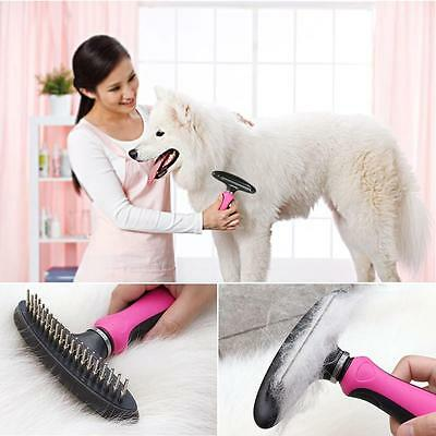 Pet Grooming Brush Comb Shedding Rake Trimming Tool Dog Cat Hair Fur Remove C3L0