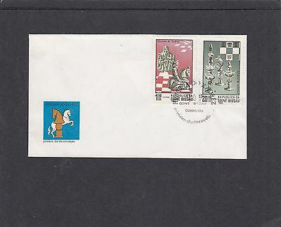 Guinea Bissau 1983 Chess  First Day Cover FDC special fdi h/s