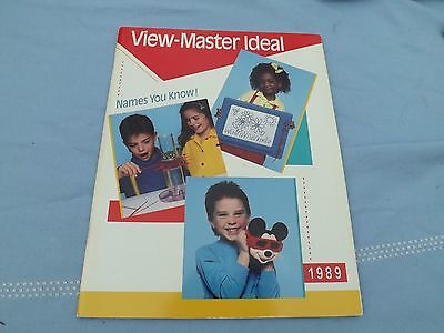 1989 VIEW MASTER Toy Fair Catalog 60 Pages Interactive Vision, Games, 3-D, Etc