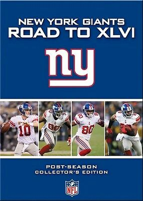 NEW YORK GIANTS ROAD TO XLVI New 4 DVD Set All 4 Postseason Games