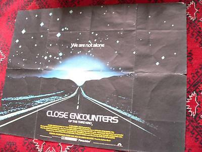 Close Encounters of the Third Kind UK QUAD MOVIE  POSTER 30x40 1977