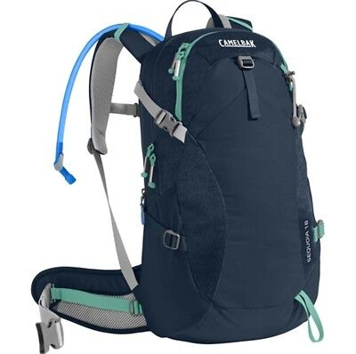 Camelbak Sequoia 18L Hydration Pack with 3L Bladder - Navy/Mint Green
