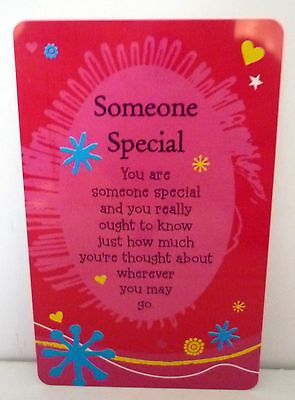 "Heartwarmer Keepsake Message Card ""someone Special"" With Inspirational Verse"
