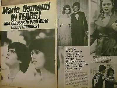 Marie Osmond, Osmonds Brothers, Three Page Vintage Clipping