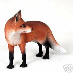 "NEW Red Fox Standing 5"" Figurine Sculpture Statue Life Like Realistic CC-AF27A"