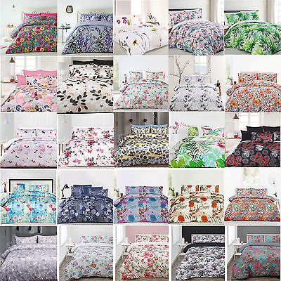 3 Pce Floral Quilt Doona Duvet Cover Set by Big Sleep - SINGLE DOUBLE QUEEN KING