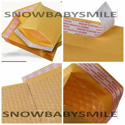 10/ 50 / 100 Kraft Bubble Padded Envelopes Mailers Self Seal Shipping bag 4 Size