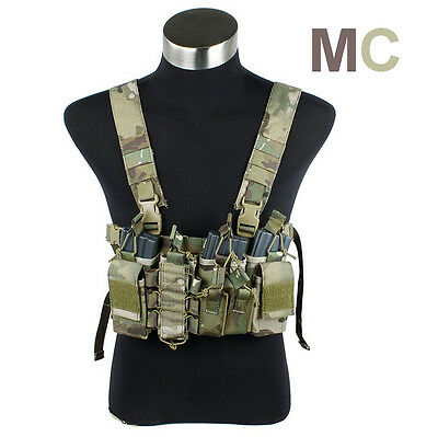 TMC Multicam Tactical Military D3 D-Mittsu Chest Rig Set for Airsoft Paintball