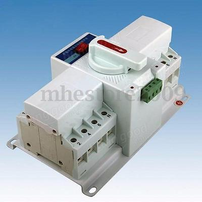 4P 63A 220V/380V 50/60Hz Mini MCB Type Dual Power Automatic Transfer Switch ATS