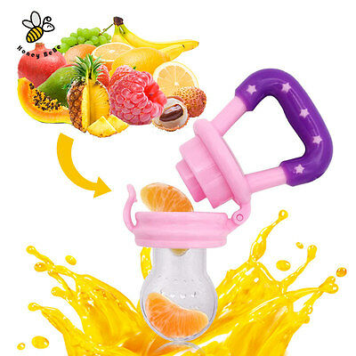 NEW Portable Infant Food Baby Nipple Feeder Silicone Pacifier Fruit Feeding Tool