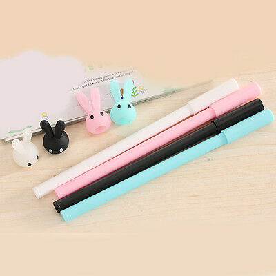 3pcs/Lot Cute Rabbit Gel Ink Pen Creative Stationery Student Random New