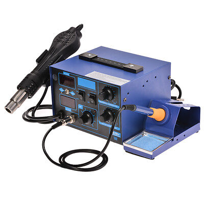 2in1 SMD Soldering Rework Station Iron W/ 4Nozzle ESD Design LED Display 862D+