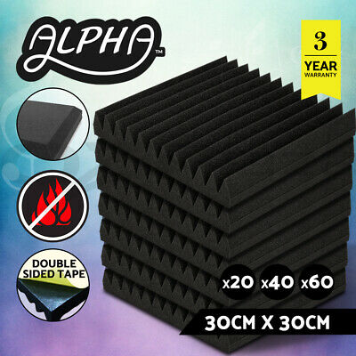 30x30CM Acoustic Foam Panels Tiles Studio Home Adhesive Tape DIY Pro Audio Sound